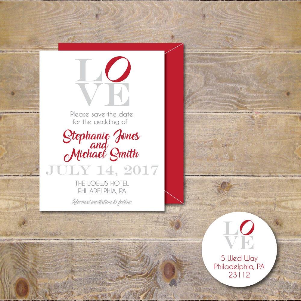 Save The Dates Philadelphia Love Park Wedding Philadelphia | Etsy