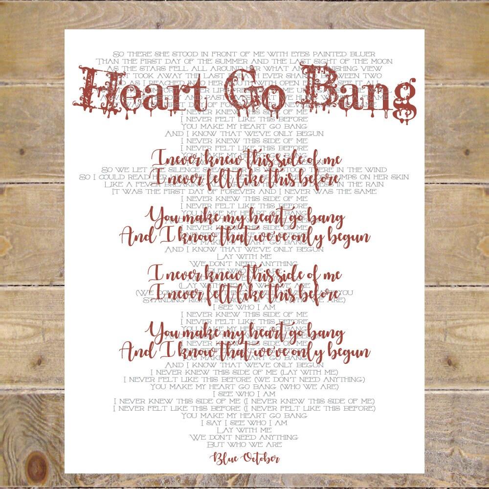 Blue october blue october lyrics heart go bang lyrics heart etsy zoom stopboris Image collections