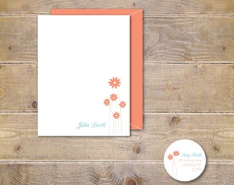 Flower Note Cards, Thank You Notes, Note Cards, Flowers, Floral Note Cards, Mother's Day, Stationery, Stationary