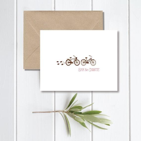 Fahrrad Hochzeit Danke Karten Tandem Fahrrad Fahrrad Etsy