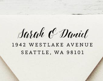 Self Inking Return Address Stamp, Custom Stamp, Self Inking Address, Personalized Stamp, Wedding Stamp, Housewarming Gift - Style #47