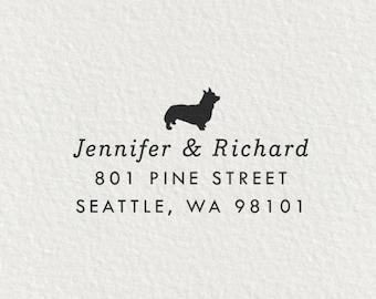 Corgi Stamp, Self Inking Return Address Stamp, Corgi Gifts, Dog Address Stamp, Return Address Stamp, Gifts for Dog Lovers - Style #66