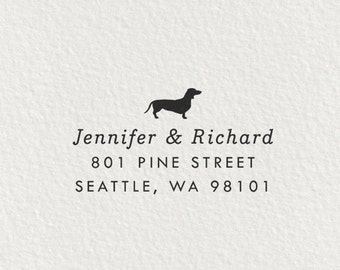 Dachshund Stamp, Self Inking Return Address Stamp, Dachshund Gifts, Dog Stamp, Return Address Stamp, Gifts for Dog Lovers, Doxie - Style #66