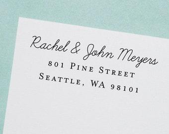 Return Address Stamp, Self-Inking Address Stamp, Custom Stamp, Personalized Stamp, Wedding Stamp, Wood Stamp, Housewarming Gift - Style #79