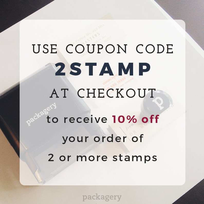 Custom Stamp Return Address Stamp Modern Stamp Self-Inking Address Self Inking Return Address Stamp Style #63 Personalized Stamp