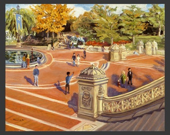 Central Park: Bethesda Terrace, Down the Steps