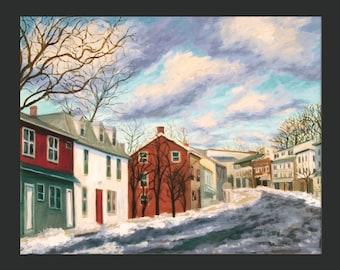 Dobbs Ferry Winter Scene, Lower Main