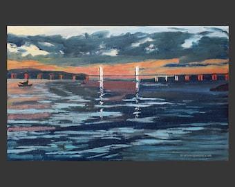 Tappan Zee/Mario M. Cuomo Bridge Evening Scene