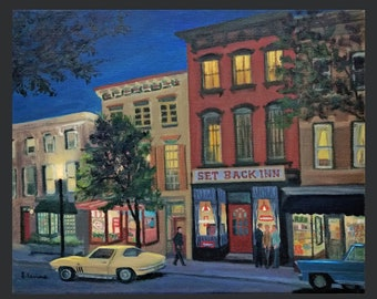 Tarrytown: Main Street at Night, Past and Present Together