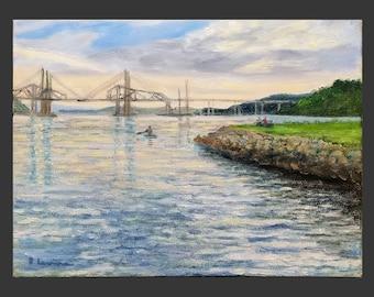 Tappan Zee/Mario M. Cuomo Bridge on the Hudson River, Late Day