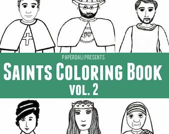 Catholic Saints Coloring Book, Vol. 2