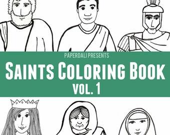 Catholic Saints Coloring Book, Vol. 1