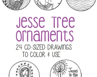 graphic regarding Jesse Tree Symbols Printable referred to as Jesse tree ornaments Etsy