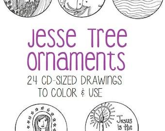 photo about Free Printable Jesse Tree Ornaments identify Jesse tree ornaments Etsy