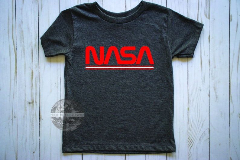 8fbf1ee9 NASA Retro Kids T-Shirt | Etsy