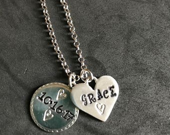 Adoption Necklace, adoption jewelry, little girl's necklace, young teen necklace, personalized necklace, hand stamped necklace