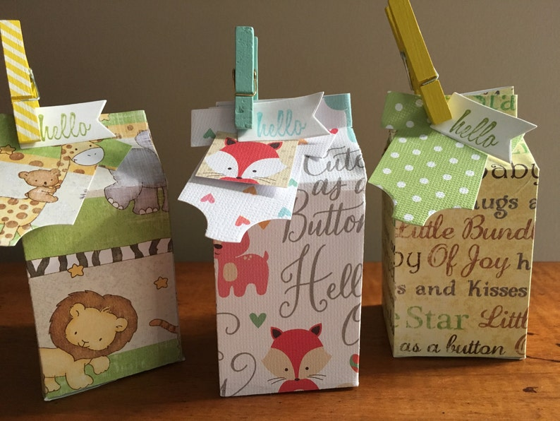 Baby Shower Favors Baby Gift Favors Gender Neutral Baby Shower Favors Mini Milk Carton Gift Boxes Party Favors