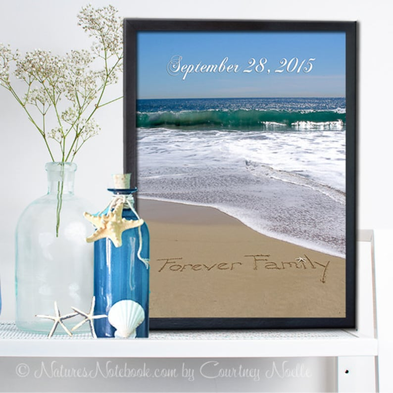 GOTCHA GIFT Adoption wall art Adoption Gift  Personalized image 0