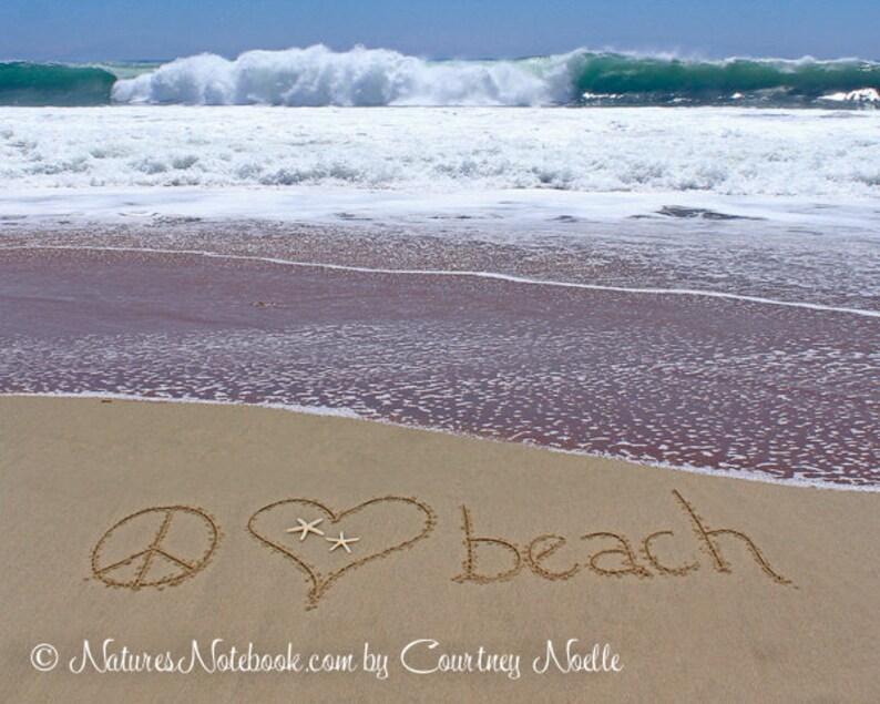Peace Love Beach Sign Teen Room Decor  Dorm Room Decor  image 0