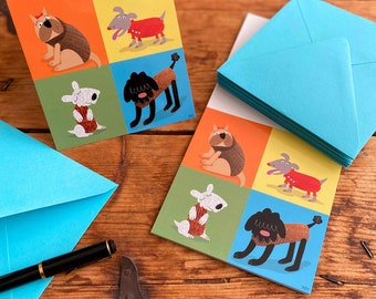 Sweater Weather for Dogs, Blank Notecard Set of 10 Cards and Envelopes