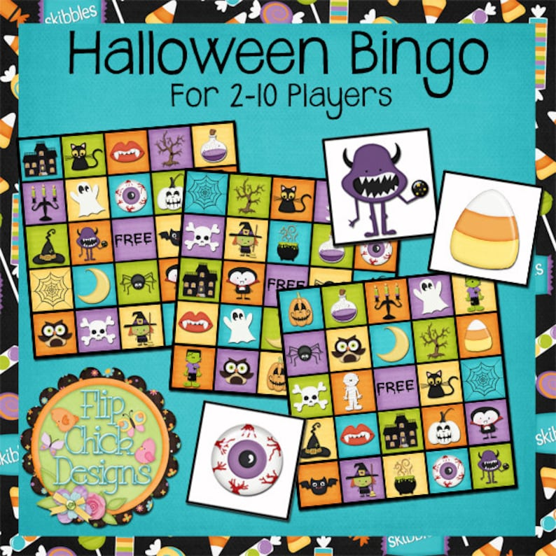 photograph relating to Printable Halloween Bingo Cards identify Printable Halloween Bingo