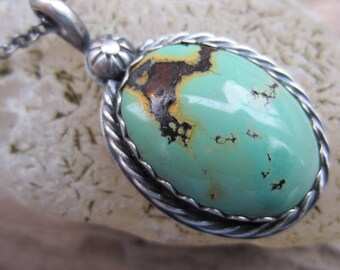 Southwest Style Turquoise and Sterling Silver Necklace
