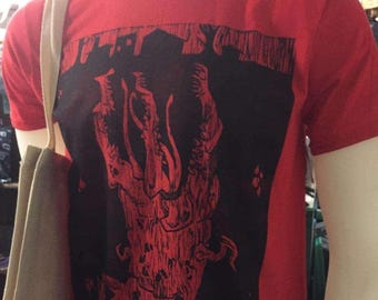 Conqueror Worm Woodcut Print T Shirt