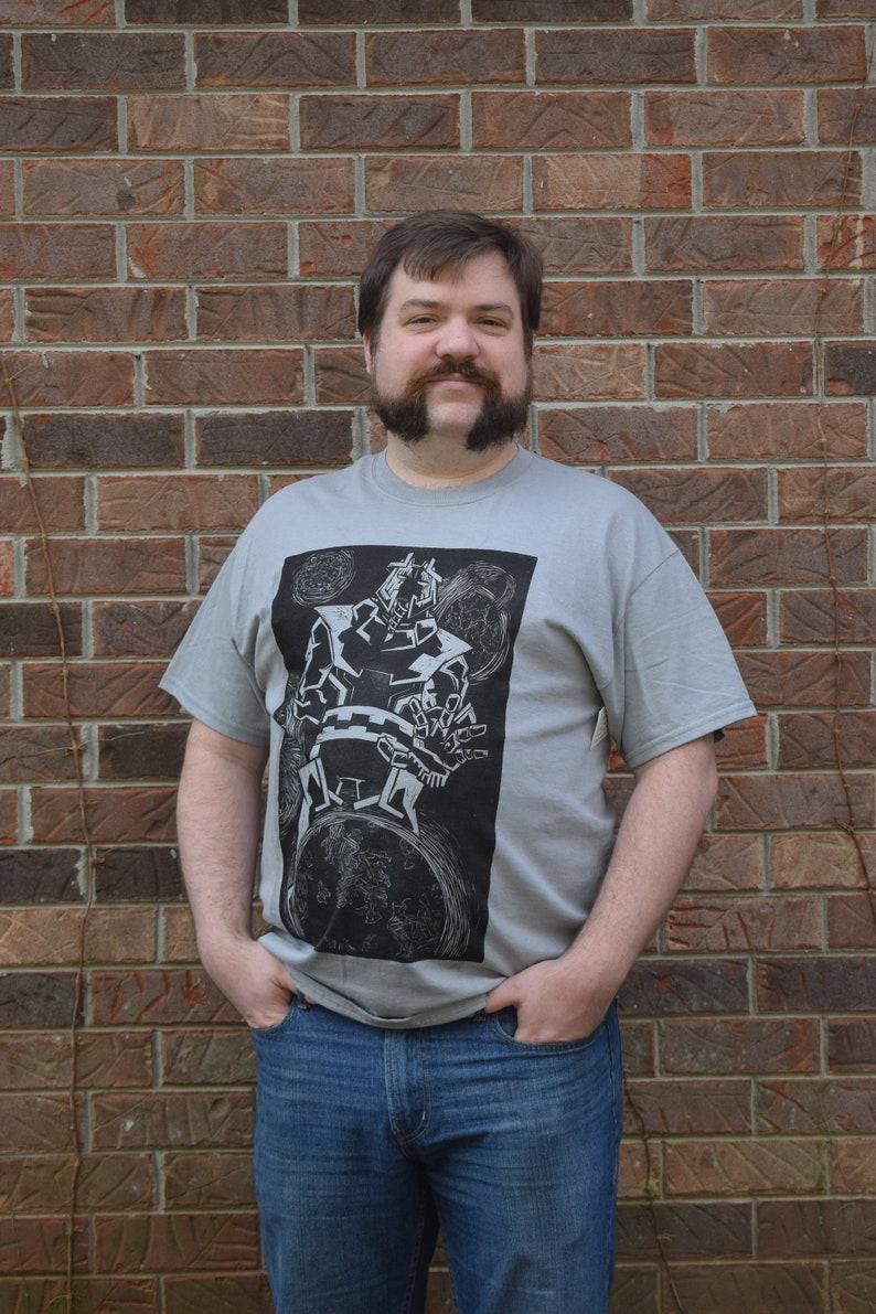General Void Linocut Print T-Shirt image 0