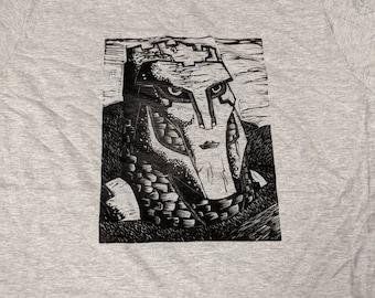 Watcher of Roads Linocut Print T-shirt