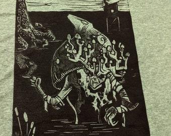 Swamp Witch Linocut Shirt