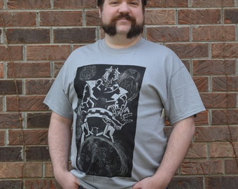 General Void Linocut Print T-Shirt