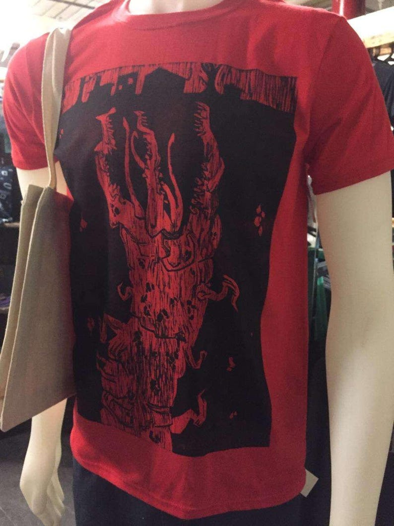 Conqueror Worm Woodcut Print T Shirt image 0