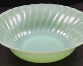 Fire King, Jadeite Swirl Pattern, 8.5 Inch Serving Bowl, made by Anchor Hocking Glass Co., during the 1950 39 s