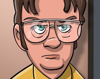 Dwight Schrute    The Office     vinyl sticker     BUMPER STICKER     VINYL     hydroflask