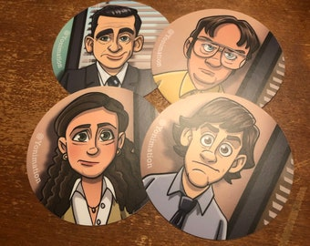 The Office     vinyl stickers (set of FOUR)    BUMPER STICKER     vinyl     hydroflask
