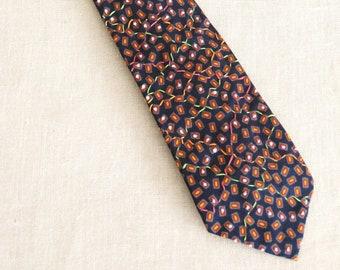 Mens Ties, Silk Ties, Floral, Neck Ties, Flowers, Green, Neckties, Hand Embroidered, Handmade, Wil Shepherd, Vintage, Up Cycled, Preppy