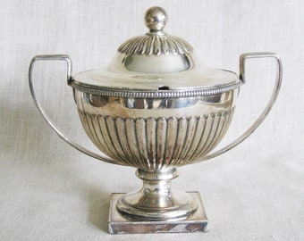 Antique Old Sheffield Silver Plate Sauce Tureen, 1810, 19th Century, Double Handle