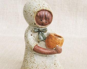 Vintage Mid-Century Ceramic Female Portrait Figurine, Danish Modern, Lisa Larson Style, Japan, Figures of Girls, Pottery, Decorative Accents
