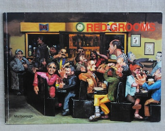Vintage Red Grooms Exhibition Catalog 1987, Marlborough Gallery New York, Cedar Bar Tavern, Paperback Book, Fine Art Reference,Famous Artist