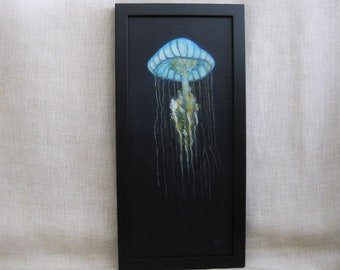 Exotic Jellyfish Painting, Original Fine Art, Marine Wildlife