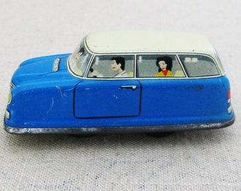 Vintage Toy Car Wind Up, West Germany, Antique Toys