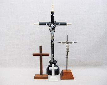 Vintage Standing Cross Collection, Religious Home Altar Decor