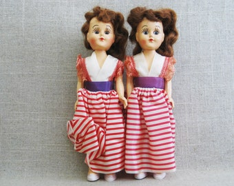 Vintage Doll, Twin Carnival Female Duchess Doll Pair