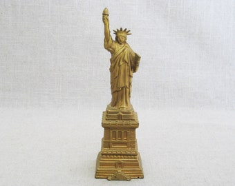 Vintage Statue of Liberty, Miniature Metal Buildings, Landmark Souvenirs