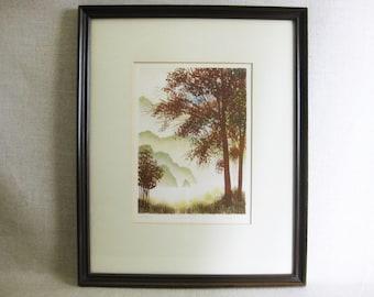 Vintage Landscape, Signed Lithograph, Jack Hagman