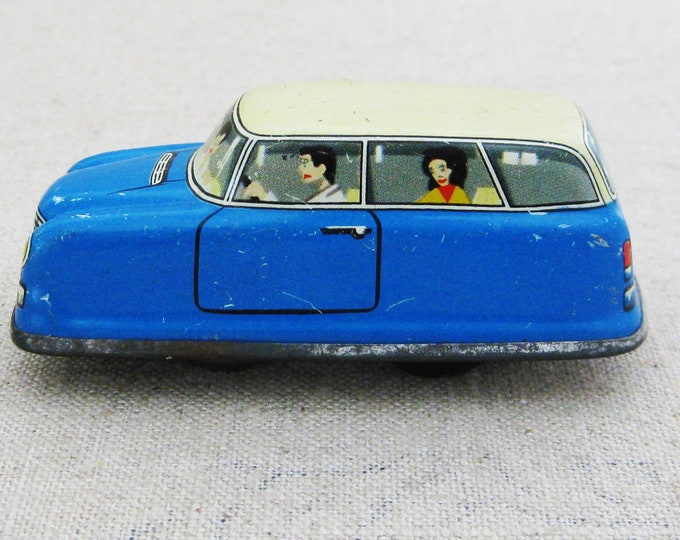 Featured listing image: Vintage Toy Car Wind Up, West Germany, Antique Toys