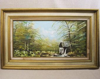 Vintage Landscape Painting, Framed Original Fine Art, Horst Hoppman