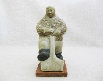 Vintage Danish Modern Ceramic Male Portrait Figure, Anja Juurikkala Finland Arabia, Scandinavian Pottery, Mid-Century