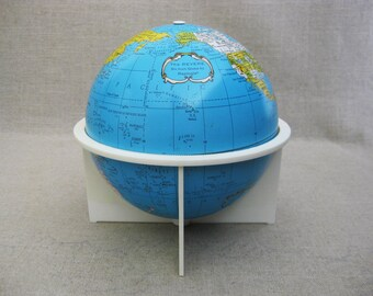 RESERVED - Vintage Replogle Globe, Metal 6 inch, Mid-Century Science Toys