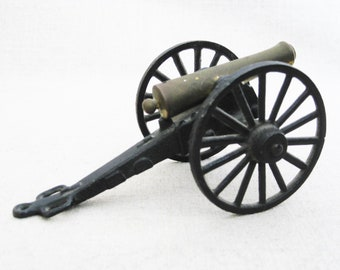 Vintage Miniature Toy Cannon, Military, Michael Falk